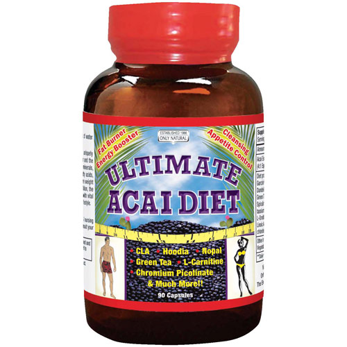 Ultimate Acai Diet Caps, 90 Capsules, Only Natural Inc.