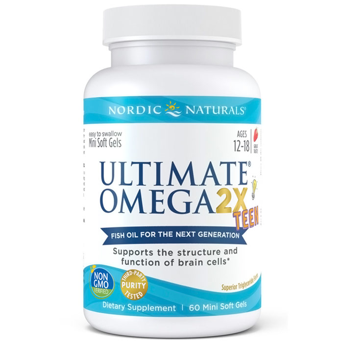 Ultimate Omega 2X Teen, 60 Mini Soft Gels, Nordic Naturals