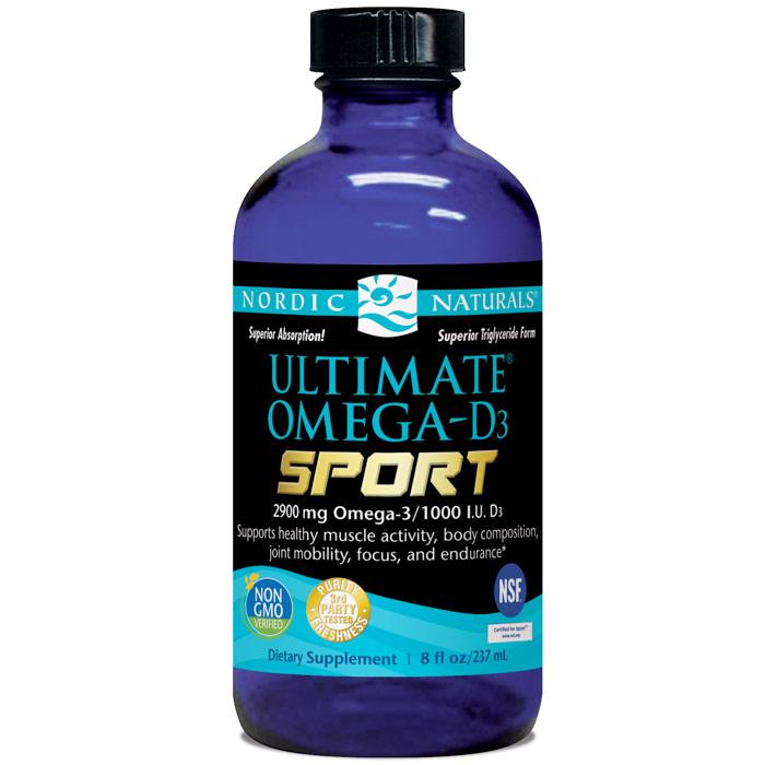 Ultimate Omega-D3 Sport Liquid, 8 oz, Nordic Naturals