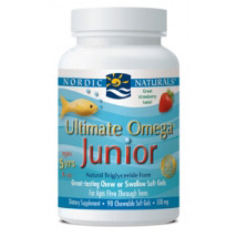 Ultimate Omega Junior, Strawberry, Great Taste Fish Oil, 90 Chewable Softgels, Nordic Naturals