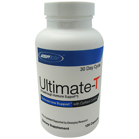 Ultimate-T, Testosterone Support with Cortisol Control, 120 Capsules, USPLabs