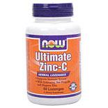 Ultimate Zinc - C with Herbal Blend, 50 Lozenges, NOW Foods (Vitamins Supplements - Zinc)