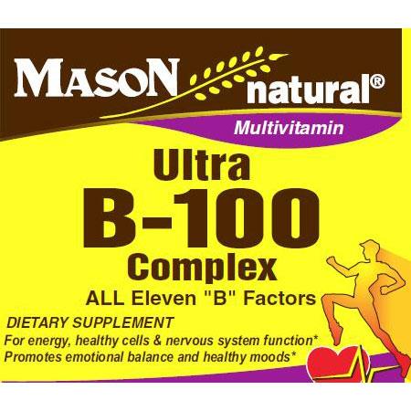 Ultra B-100 Complex, 60 Tablets, Mason Natural