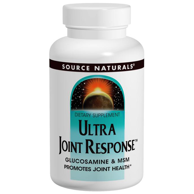 Ultra Joint Response (MSM and Glucosamine Complex) 180 tabs from Source Naturals
