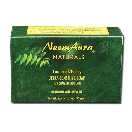 Ultra-Sensitive Bar Soap, Cornmeal/Honey, For Combination Skin, Neem Aura