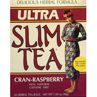 Ultra Slim Tea, Cran-Raspberry, 24 Tea Bags, Hobe Labs