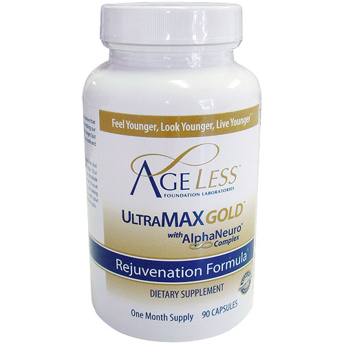UltraMAX HGH Gold (Ultra MAX Gold) 90 Capsules, Ageless Foundation Labs