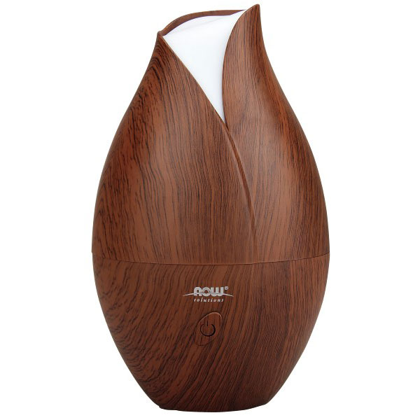 Aromatherapy Diffuser - Ultrasonic Faux Wood Essential Oil Diffuser, NOW Foods