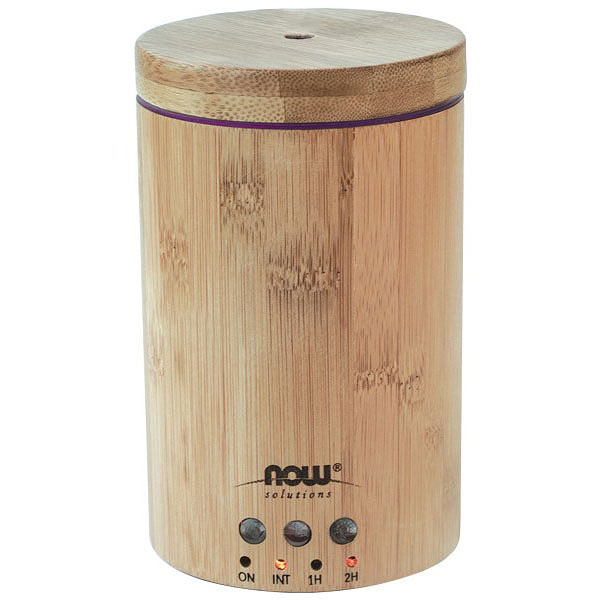 Aromatherapy Diffuser - Ultrasonic Real Bamboo Essential Oil Diffuser, NOW Foods