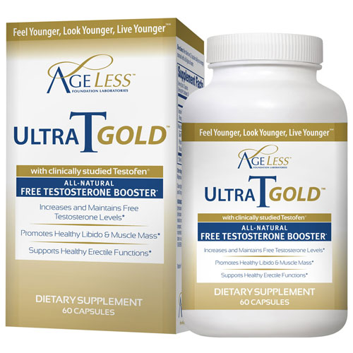 UltraTGold (UltraT Gold, Ultra T Gold), 60 Capsules, Ageless Foundation Labs