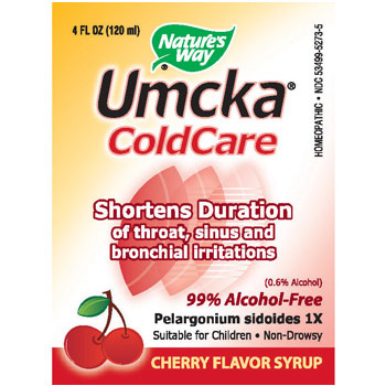 Umcka ColdCare Cherry Syrup for Children, 4 oz, Natures Way