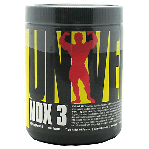 Universal Nutrition NOX 3, Triple-Action NO, 180 Tablets
