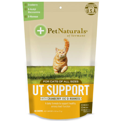 UT Support for Cats, Supports Healthy Urinary Tract, 60 Chews, Pet Naturals of Vermont