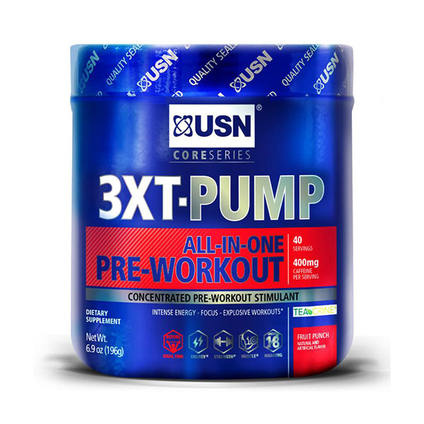 USN 3XT-Pump, All-In-One Pre-Workout Powder, 40 Servings