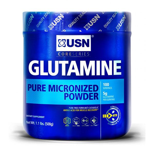 USN Glutamine Pure Micronized Powder, 500 g (100 Servings)