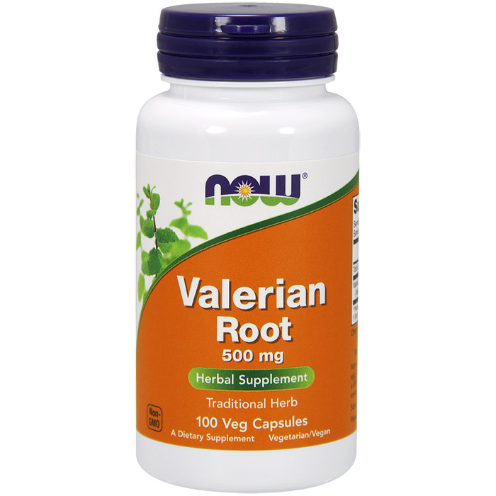 Valerian Root 500 mg, 100 Capsules, NOW Foods