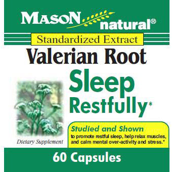 Valerian Root, 60 Capsules, Mason Natural