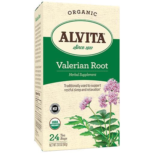 Organic Valerian Root Tea, 24 Tea Bags, Alvita Tea