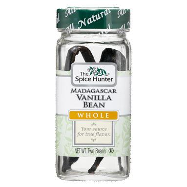 Vanilla Bean, Madagascar, Whole, 2 Beans x 6 Bottles, Spice Hunter