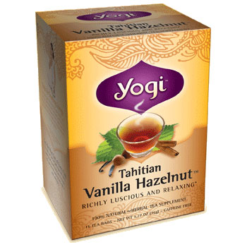 Tahitian Vanilla Hazelnut Tea 16 tea bags from Yogi Tea
