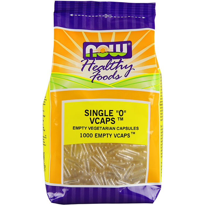 Empty Capsules Vegetarian - Single 0, Value Size, 1000 Veg Capsules, NOW Foods