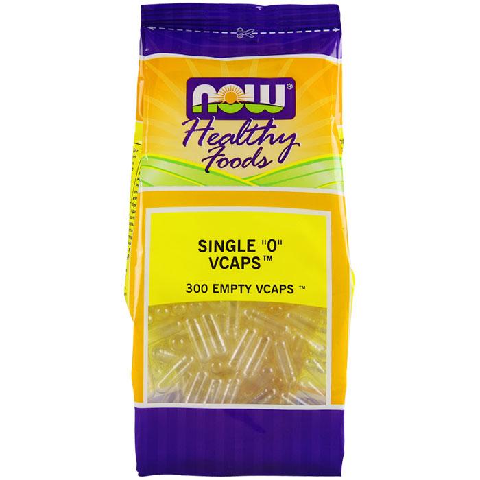Empty Capsules Vegetarian - Single 0, 300 Veg Capsules, NOW Foods