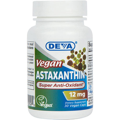 Vegan Astaxanthin Super Antioxidant, 30 Vegan Caps, Deva Vegetarian Nutrition