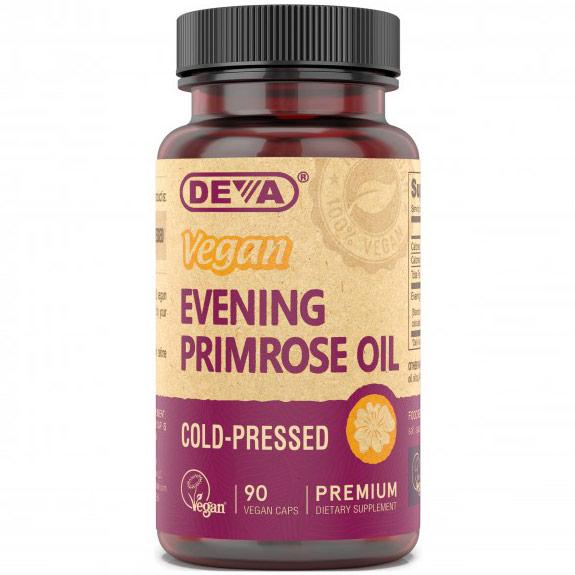 Vegan Evening Primrose Oil, 90 Veggie Caps, Deva Vegetarian Nutrition