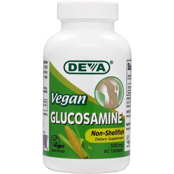 Vegan Glucosamine 500 mg, 90 Tablets, Deva Vegetarian Nutrition