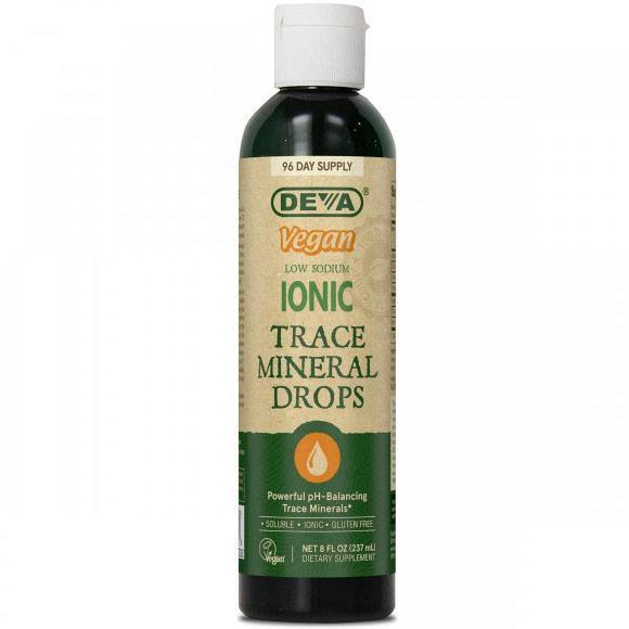 Vegan Ionic Trace Mineral Drops Liquid, 8 oz, Deva Vegetarian Nutrition