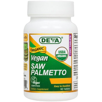 Vegan Saw Palmetto (Organic) 490 mg, 90 Vegan Caps, Deva Vegetarian Nutrition