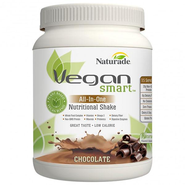 Vegan Smart All-In-One Nutritional Shake - Chocolate, 15 Servings (24.34 oz), Naturade