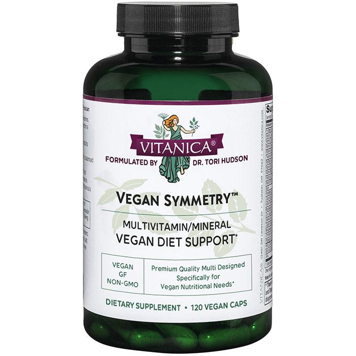 Vegan Symmetry, Vegan Multivitamin, 120 Vegetarian Capsules, Vitanica