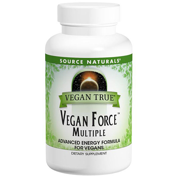 Vegan True Vegan Force Multiple with Iron, 60 Tablets, Source Naturals