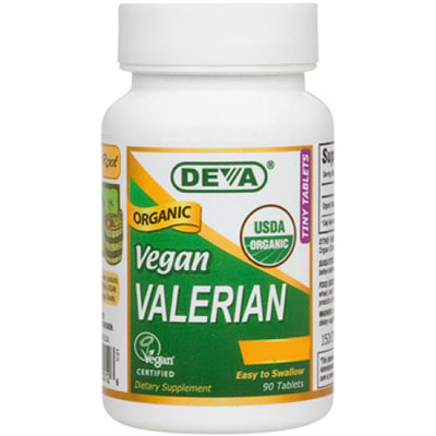 Organic Vegan Valerian 300 mg, 90 Tablets, Deva Vegetarian Nutrition