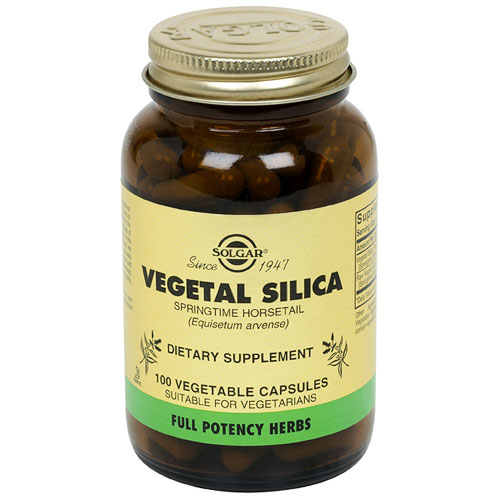 Vegetal Silica - Full Potency, 100 Vegetable Capsules, Solgar - CLICK HERE TO LEARN MORE