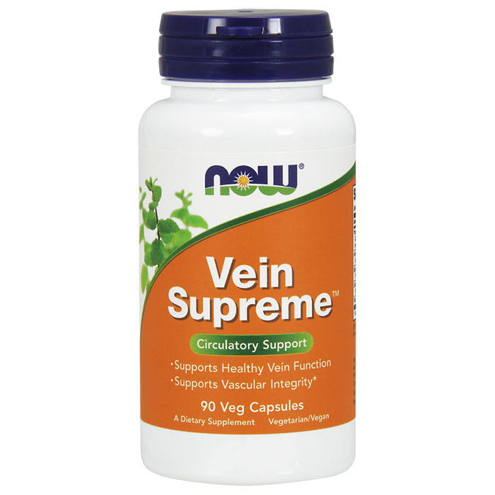 Vein Supreme 90 Vcaps, NOW Foods