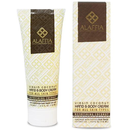Virgin Coconut Hand & Body Cream - Refreshing Coconut, 4 oz, Alaffia