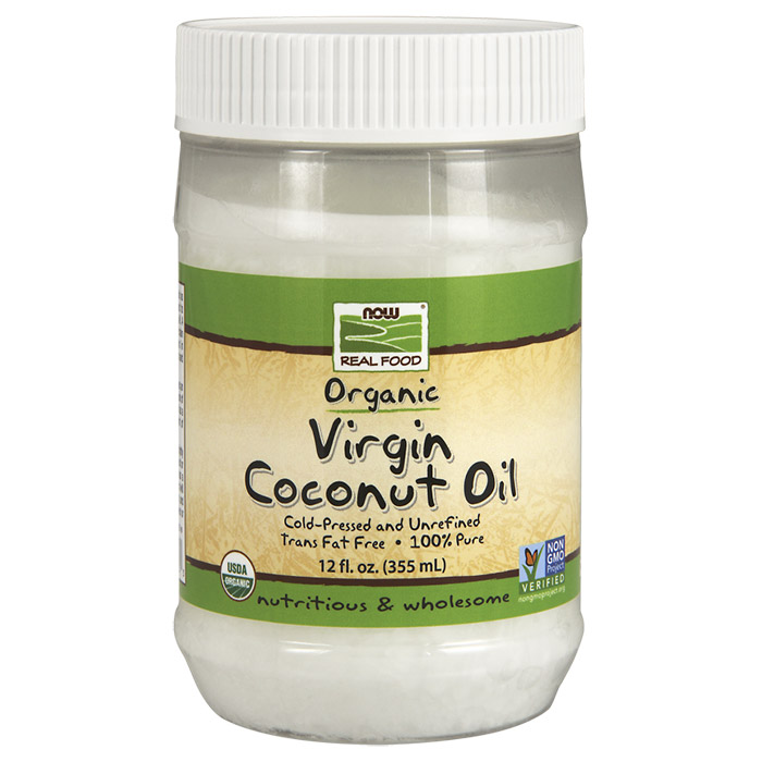 Virgin Coconut Oil Organic 12 oz, NOW Foods