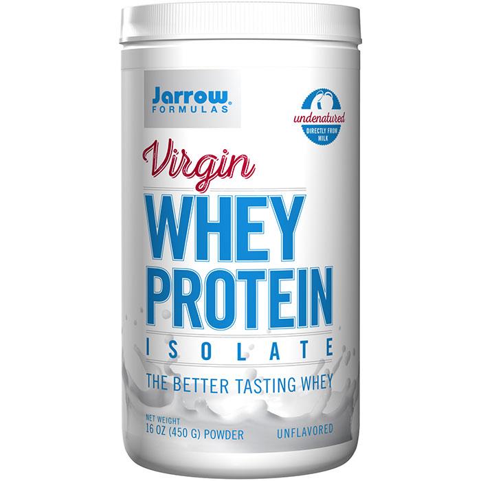 Virgin Whey Protein Isolate Powder - Unflavored, 16 oz, Jarrow Formulas