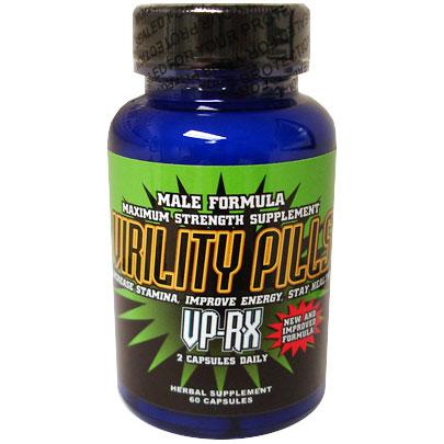 Virility Pills - VP RX Male Enhancement Formula, 60 Capsules