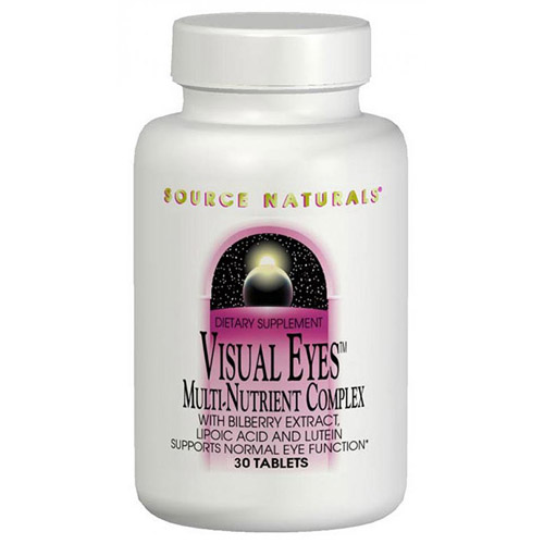 Visual Eyes with Bilberry & Lutein 60 tabs from Source Naturals