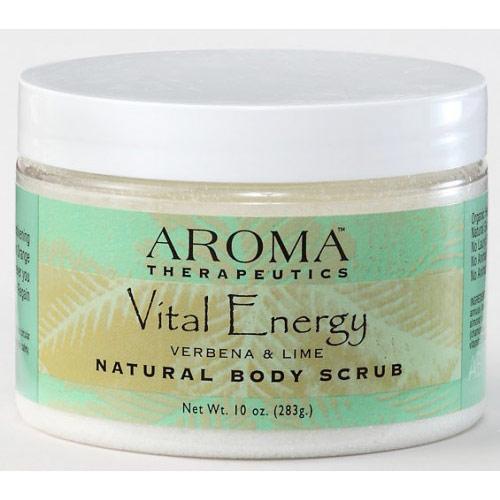 Vital Energy Natural Body Scrub, 10 oz, Abra Therapeutics