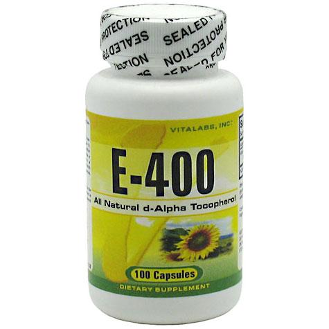 Vitalabs Vitamin E-400, 100 capsules (Vitamins Supplements - Vitamin E)