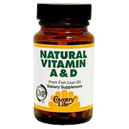 Vitamin A & D Natural 100 Softgel, Country Life