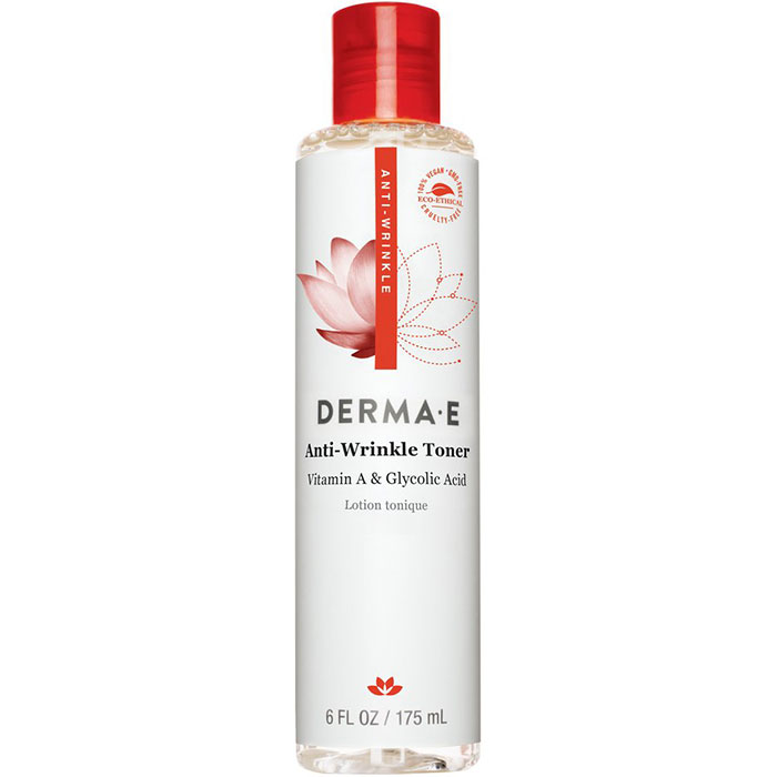 Image of Derma E Anti-Wrinkle Toner with Vitamin A & Glycolic Acid, Alcohol-Free, 6 oz