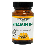 Vitamin B-1 100 mg 100 Tablets, Country Life