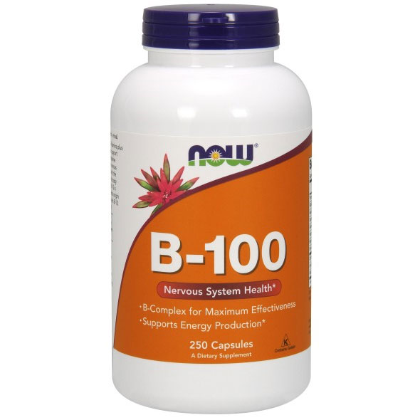 Vitamin B-100 Caps, Vitamin B Complex 250 Caps, NOW Foods