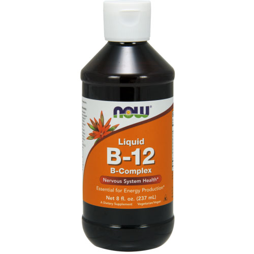 Vitamin B-12 B-Complex Liquid 8 oz, NOW Foods