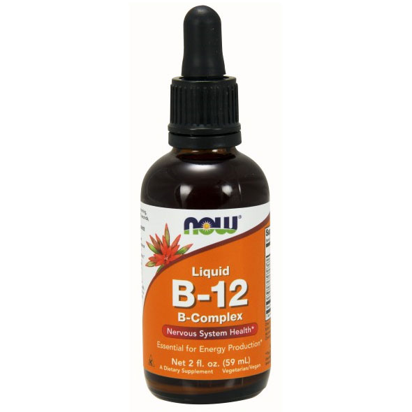 Vitamin B-12 Liquid, B12 Complex Liquid 2 oz, NOW Foods